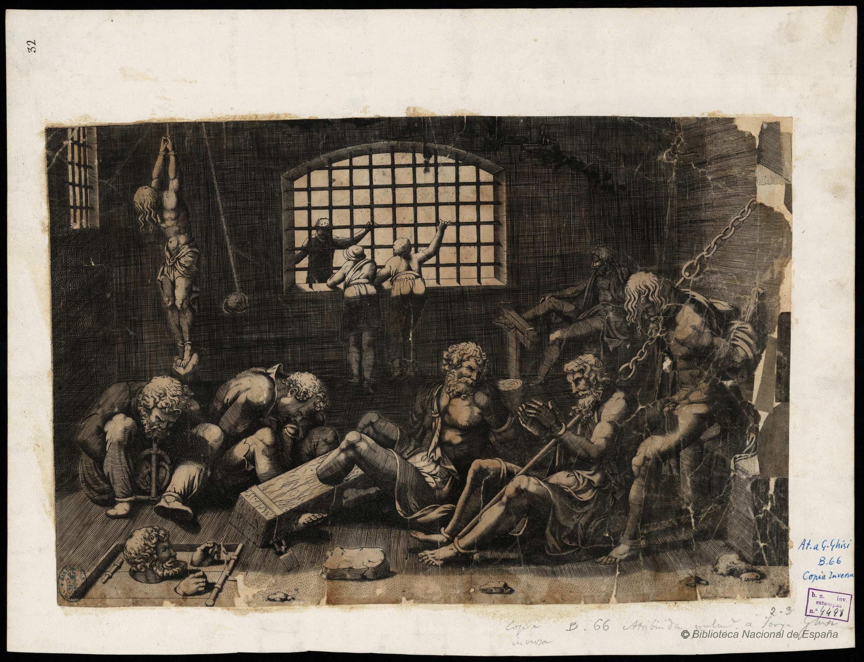 "8ac4570e79 ""Prisioneros"", por Scultori, Giovanni Battista (1503-1575), 1773. Fuente:  BNE (ver créditos)."
